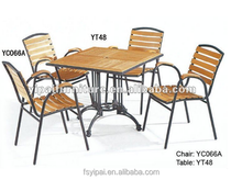 new design used metal wooden furniture set for restaurant and canteen YC066A/YT48