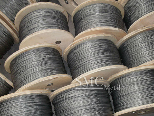zinc coated steel wire rope.