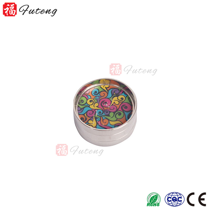 FT-032 YiWu Futeng Zinc 3 Parts Spice Herb Grinder Smoking Accessories Chinese Wholesale Tobacco Grinder
