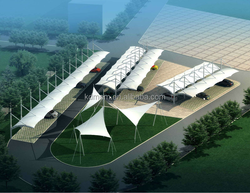 Tensile Membrane Structure Car Parking Cover Canopy