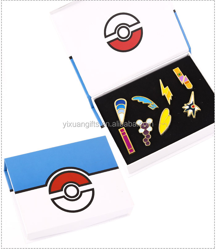 2016 new design of Game and Anime Gym Pokemon Badges