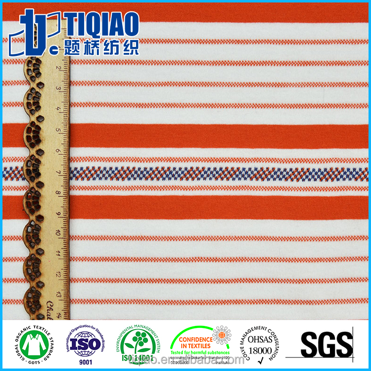 Clients custom striped clothing fabric at favor price