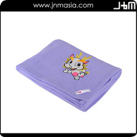 Custom high quality china factory wholesale 100% polyster fleece blanket
