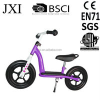2016latest purple white color foam tire PUKY design best sell steel kids training new plastic balance bike