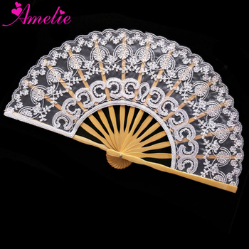 7.8inches Amelie Factory Handmade Lace fan Wedding Favors Gifts for Guests