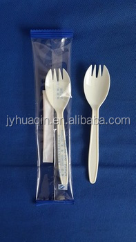 individually wrapped disposable plastic spork