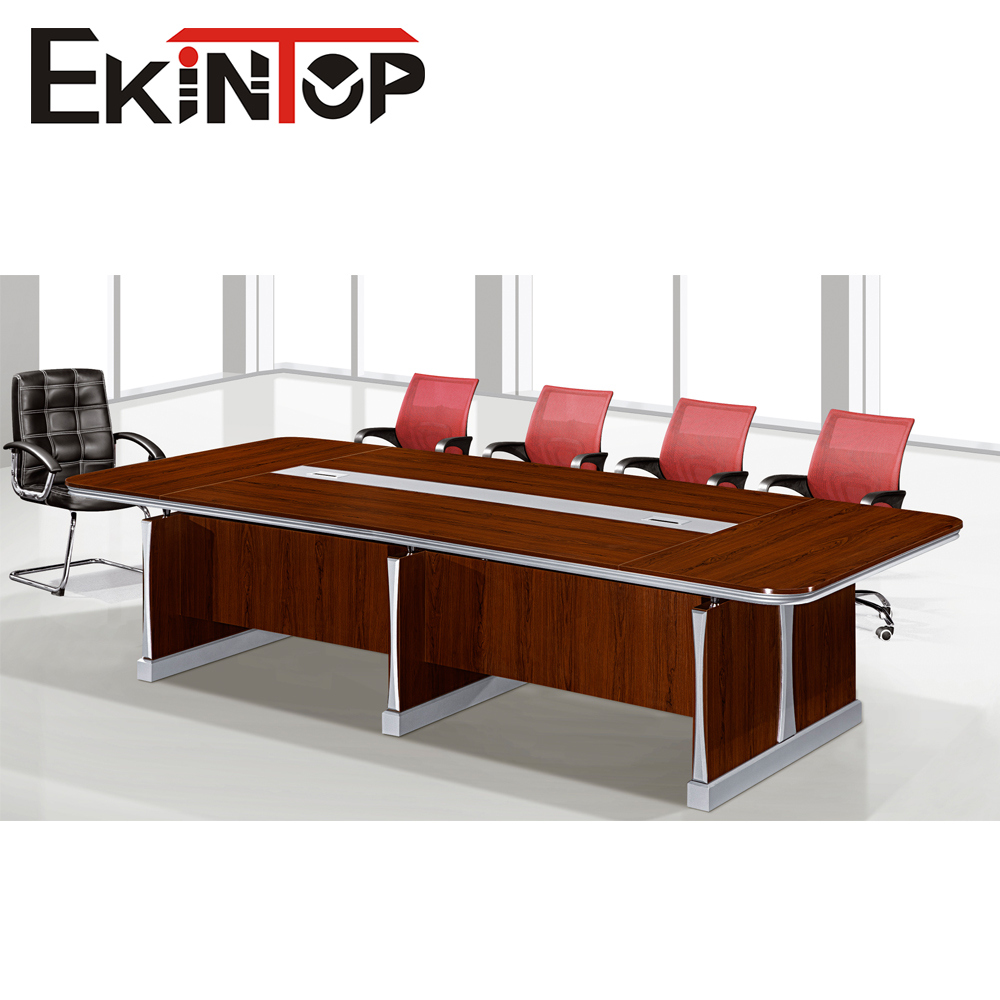 Meeting table with wooden and metal leg conference table 8 to 10 seater