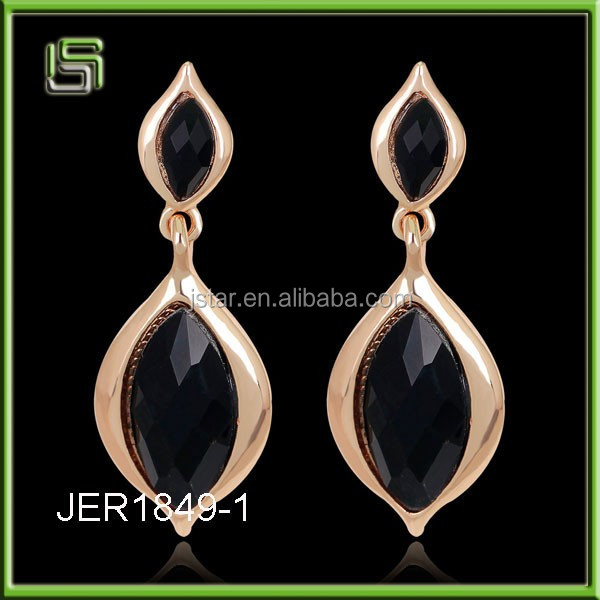 Ladies acrylic wholesale long leaves drops of diamond earrings