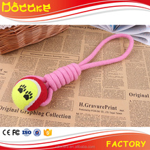 Handmade dog chewing cotton toy with baseball for pets dog training rope toy