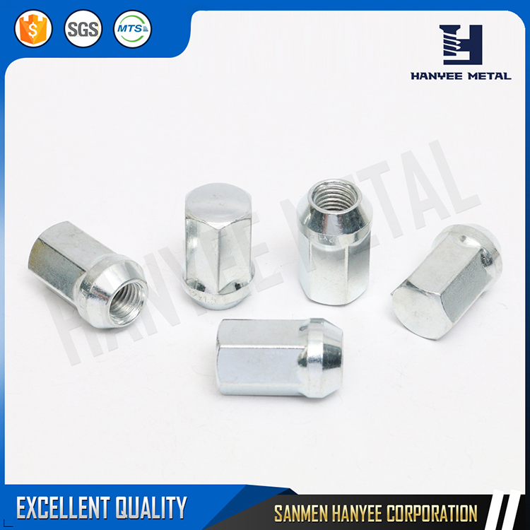 Various models zinc plate M20 hexagon outiseshape carbon steel wheel nut