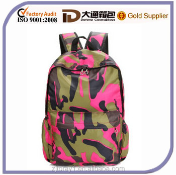 2015 New Fashion Women High Quality Casual Polyester Camouflage Backpack