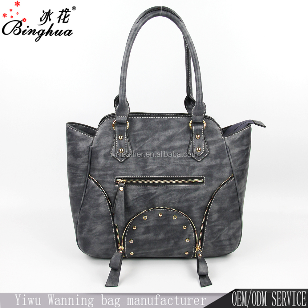 Leather designer handbag ladies fancy top tote bag high copy brand handbag