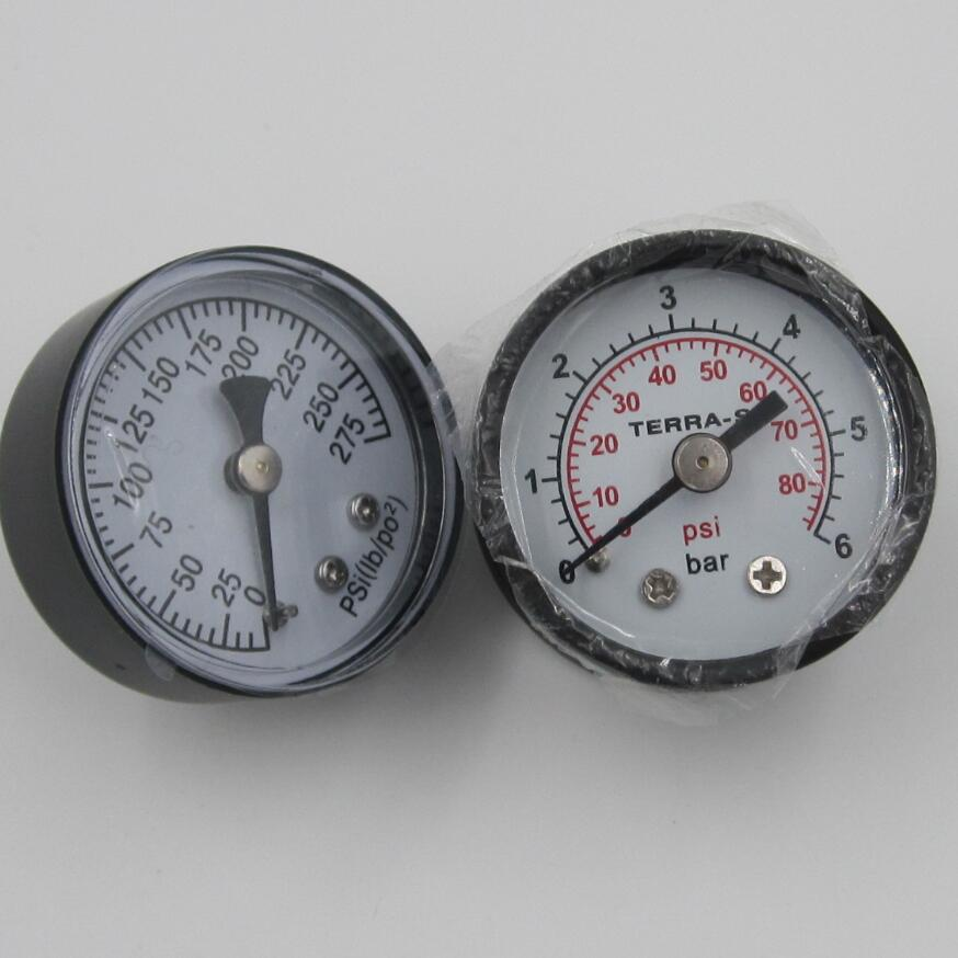 high precision temperature pressure gauge with brass connector