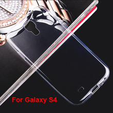 S4001 Transparent Phone Case for Samsung Galaxy S4 i9500 , 0.6mm Mobile Phone Ultra Thin Soft TPU Cover for Samsung Galaxy S4