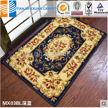 machine made hand carved door carpet for floor home