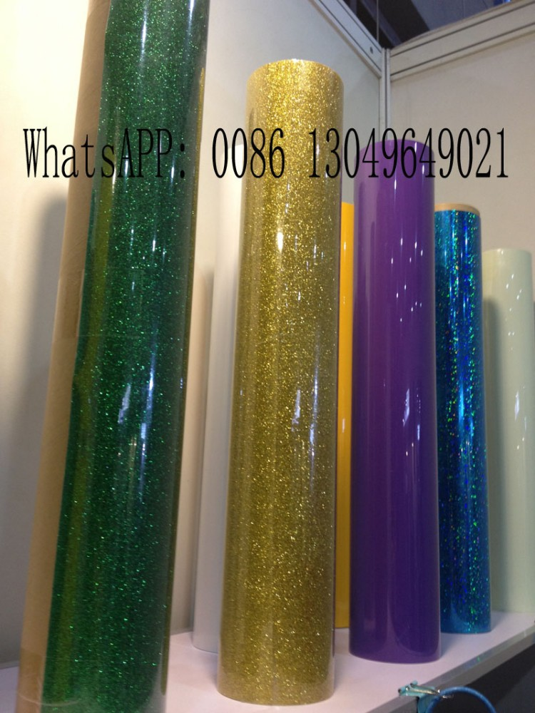 Korea quality glitter flake heat transfer vinyl