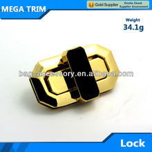 Fashion light gold hardware accessories metal bag twist turn lock metal locks for handbags