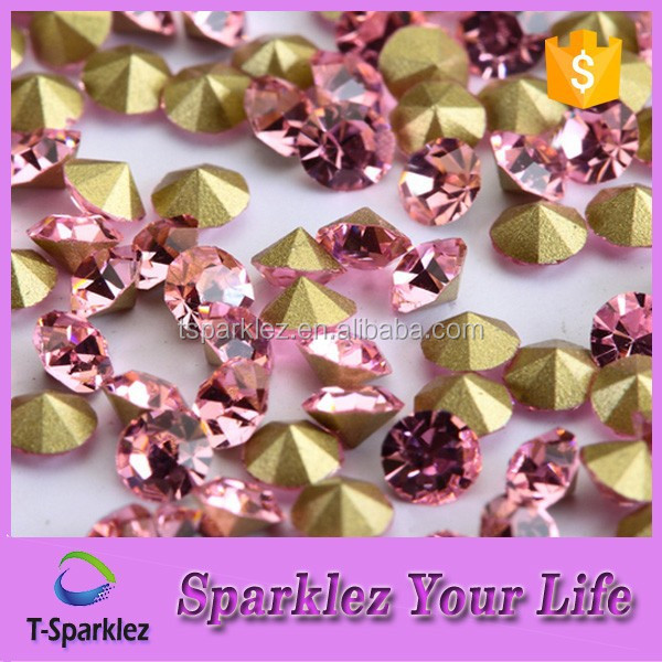 Jewellery Chaton Stone Pointed Colored Glass Rhinestones to Decorate