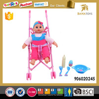 New design lovely baby doll with trolley