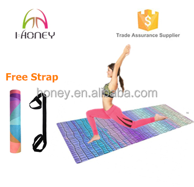 Non-slip PRO Yoga and Pilates Mat with custom printed design