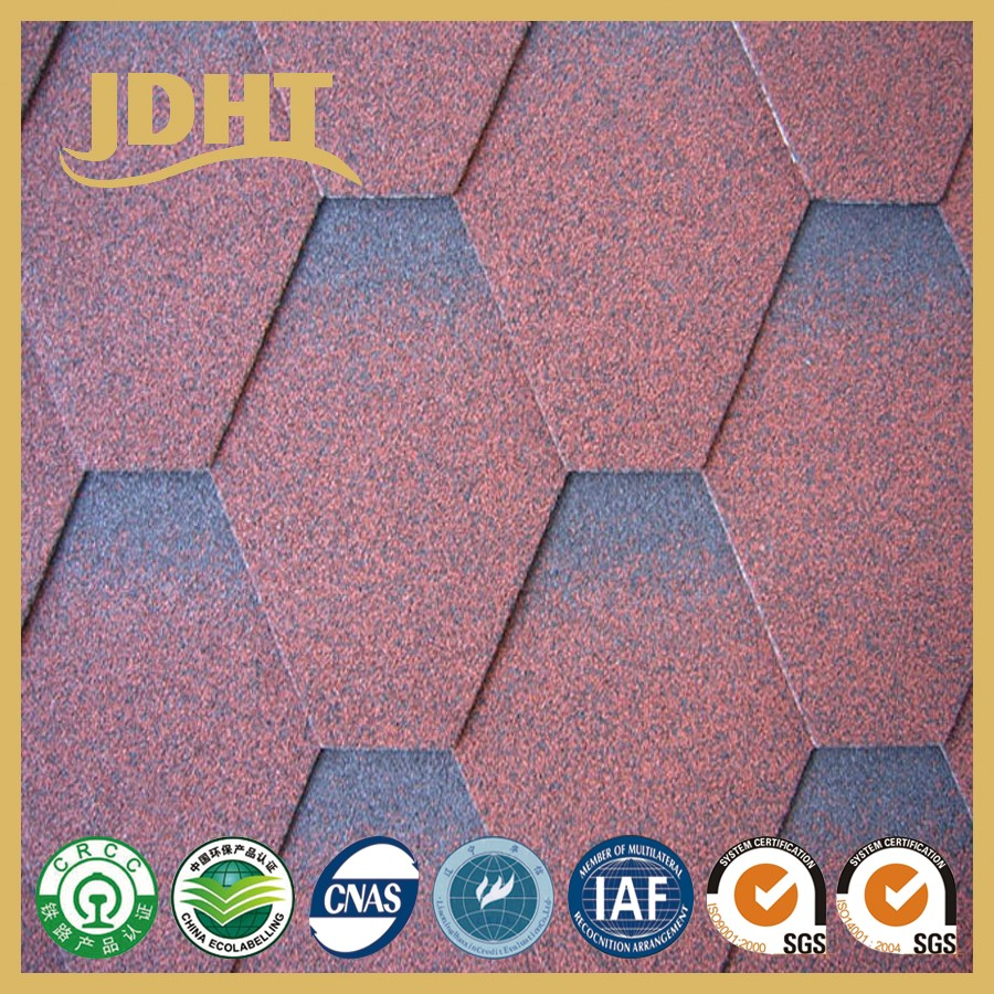 JD-253 Roof Replacement Colorful fiberglass asphalt Shingles