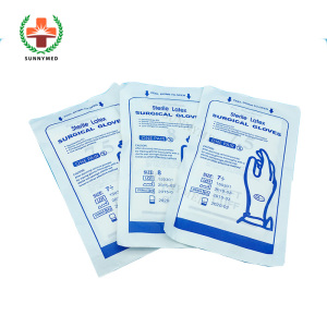 SY-L085 High quality Medical hospital Sterile Latex surgical gloves price