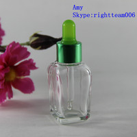 French square 30ml glass dropper bottles olive oil glass bottles for cosmetic