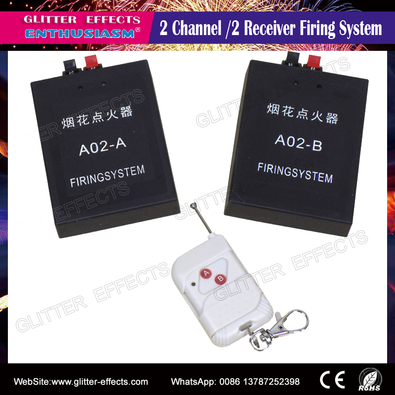<strong>A02</strong> One remote control 2pcs receiver fireworks firing system