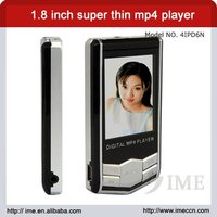 1.8 inch TFT super thin mp4 digital player,with mp4 king
