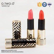 Guangzhou O.TWO.O Natural Mineral Cosmetics Matte Lipstick 12 Color All Day Lipstick