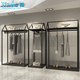retail store furniture metal wall hanging clothes shop metal display racks and stand for hanging garment
