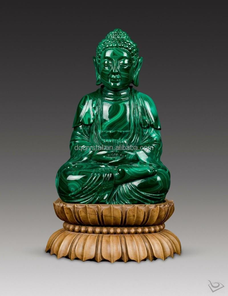 wholesale carved malachite figure of Buddha