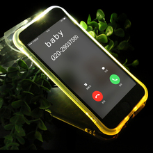Factory price custom shock proof flash led light up phone case for iphone 7