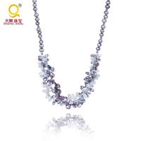 Wholesale ladies jewellery crystal pearl necklace costume jewellery