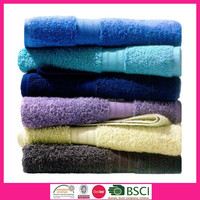 100% Combed Cotton Solid Color Dobby Border Bath Towels