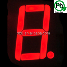 outdoor 12inch 1 digit red/blue/amble scorebaord 7 segment led display