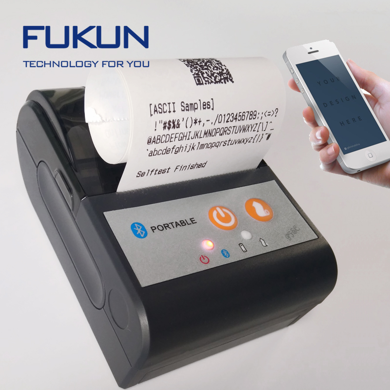 2 Inch mini Bluetooth Mobile Thermal Printer Support Android