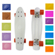 Wheel size 60*45mm 2018 wholesale 22inch 12 color deck cheap skateboards for promotion