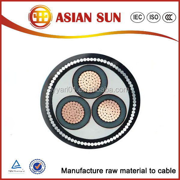 LV MV 4 core underground electrical armoured cable power cable 25mm 35mm 50mm 70mm 95mm 120mm 185mm 240mm