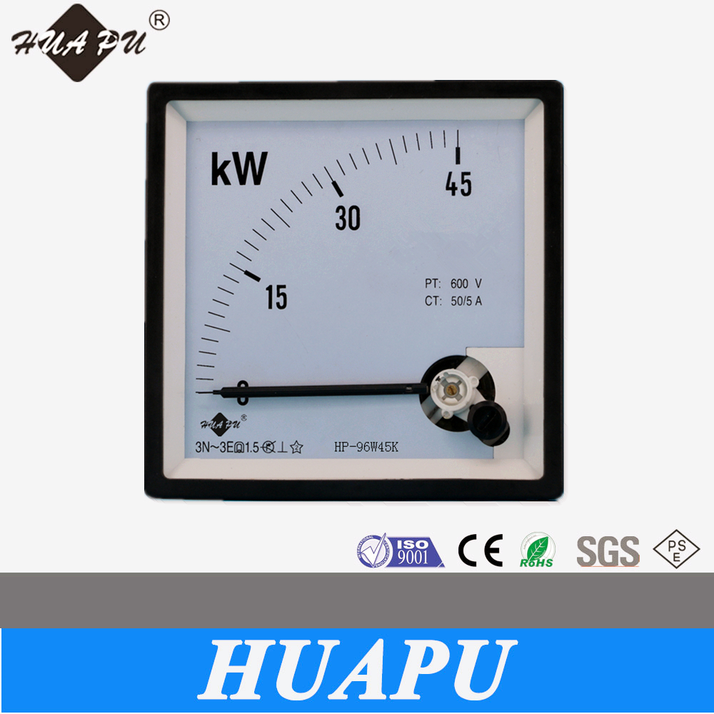 Manufacture high quality analog Power panel meter wattmeter KW meter 96*96mm