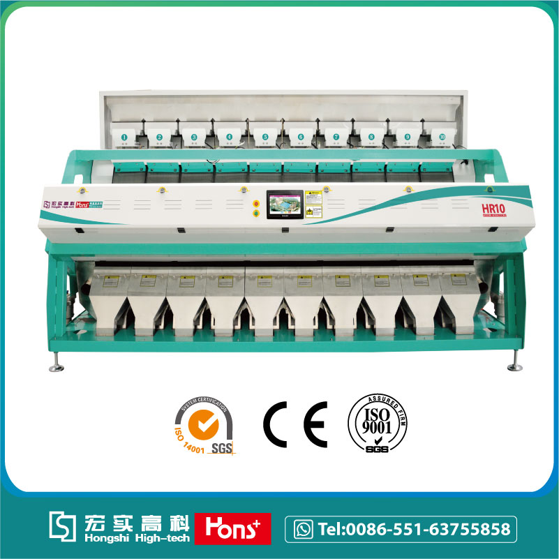 Red lentil CCD color sorter machine from China, Hons+ company