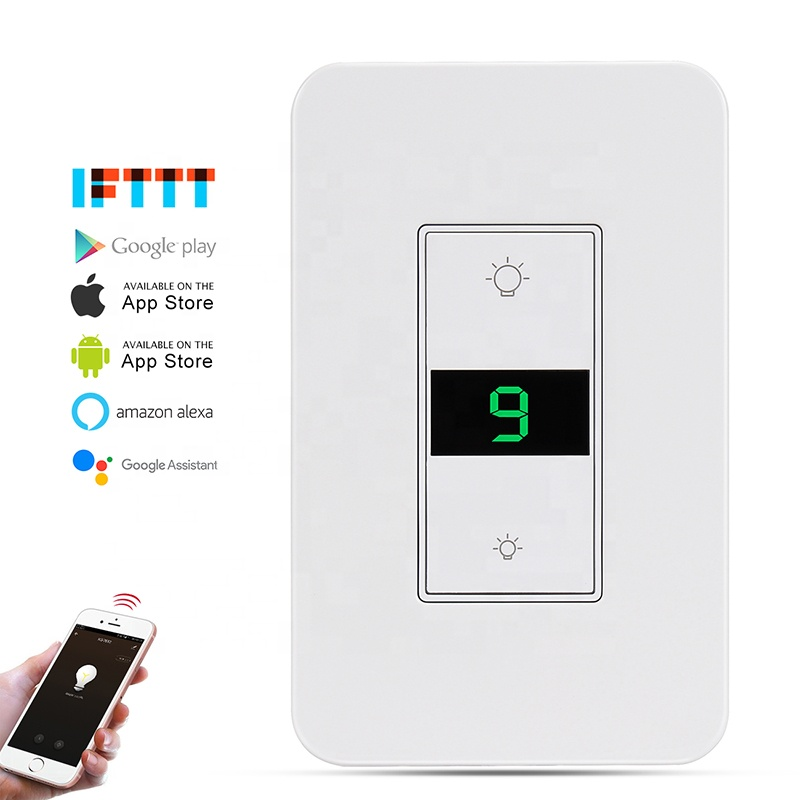 US Standard Tuya Electric <strong>Switches</strong> for Home Alexa Timer Wifi Smart Dimmer <strong>Switch</strong>
