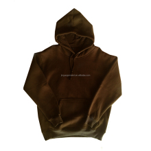 men custom plain 60 cotton 40 polyester fleece long sleeve hoodies