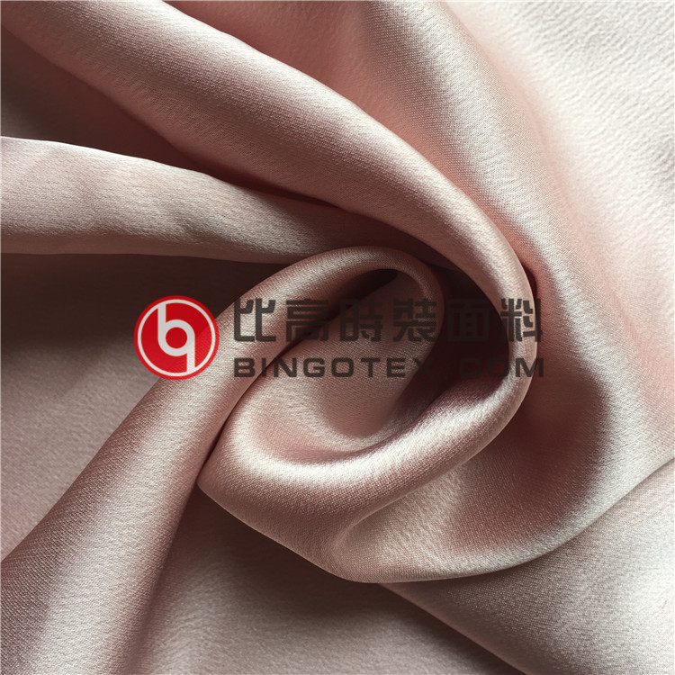 High Weight Stretch Poly Satin Chiffon Fabric for Ladies' Garments