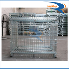 industrial warehouse locking metal wire mesh roll storage cabinets