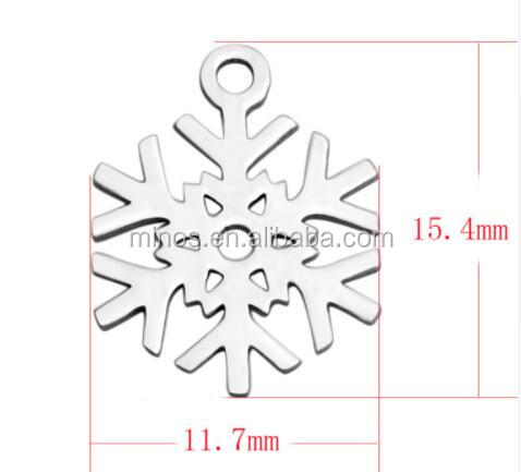 Snowflake Jewelry Charms,Stainless Steel Silver Snowflake Charms For DIY jewelry making