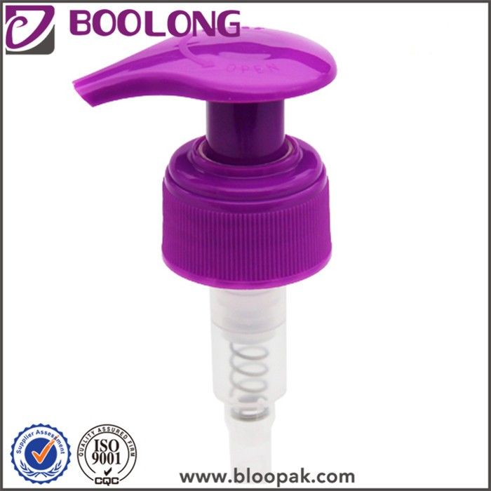 2016 Boolong blue smooth plastic bottle lotion pump