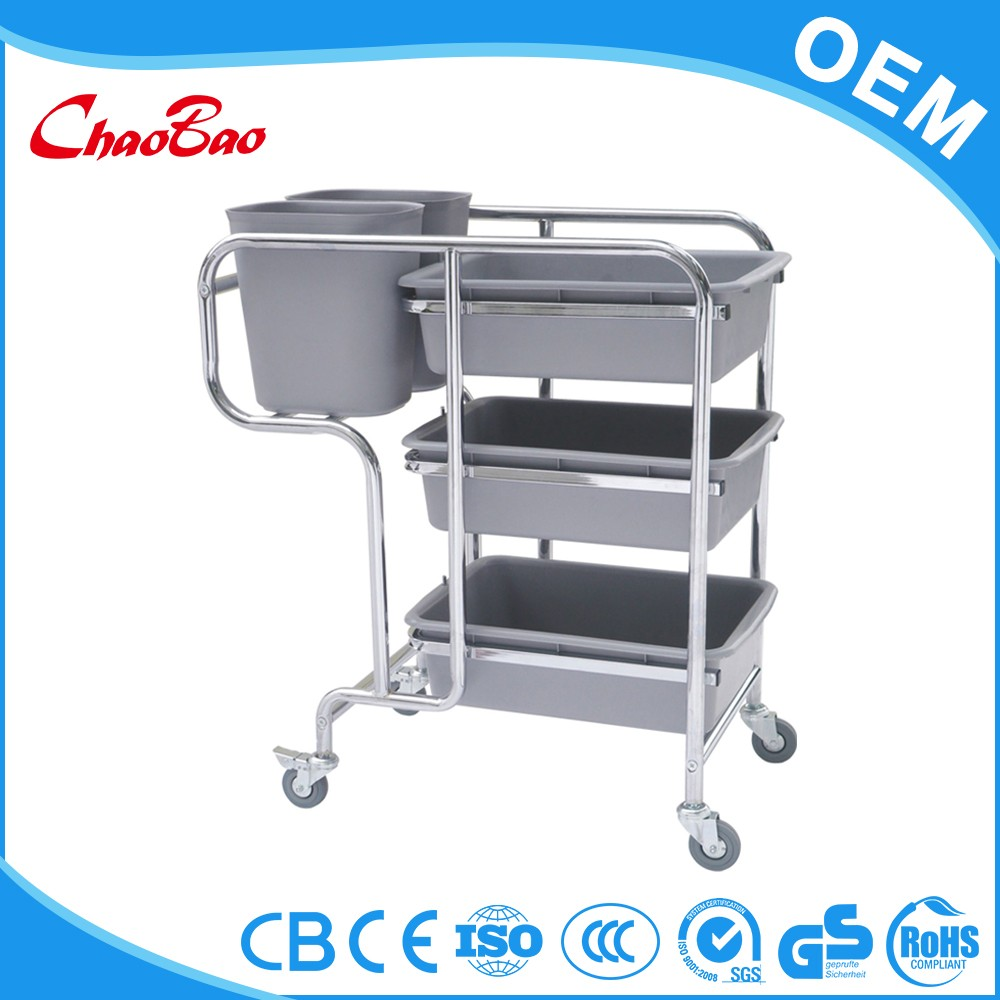 Hospital linen Housekeeping carts linen trolley service Laundry cart hotel