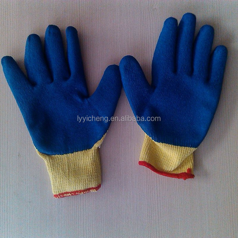 latex coated work glove/13g latex coated working glove