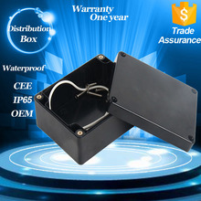 Outdoor Black ABS plastic IP65 waterproof Electrical Terminal Connecting Junction Box